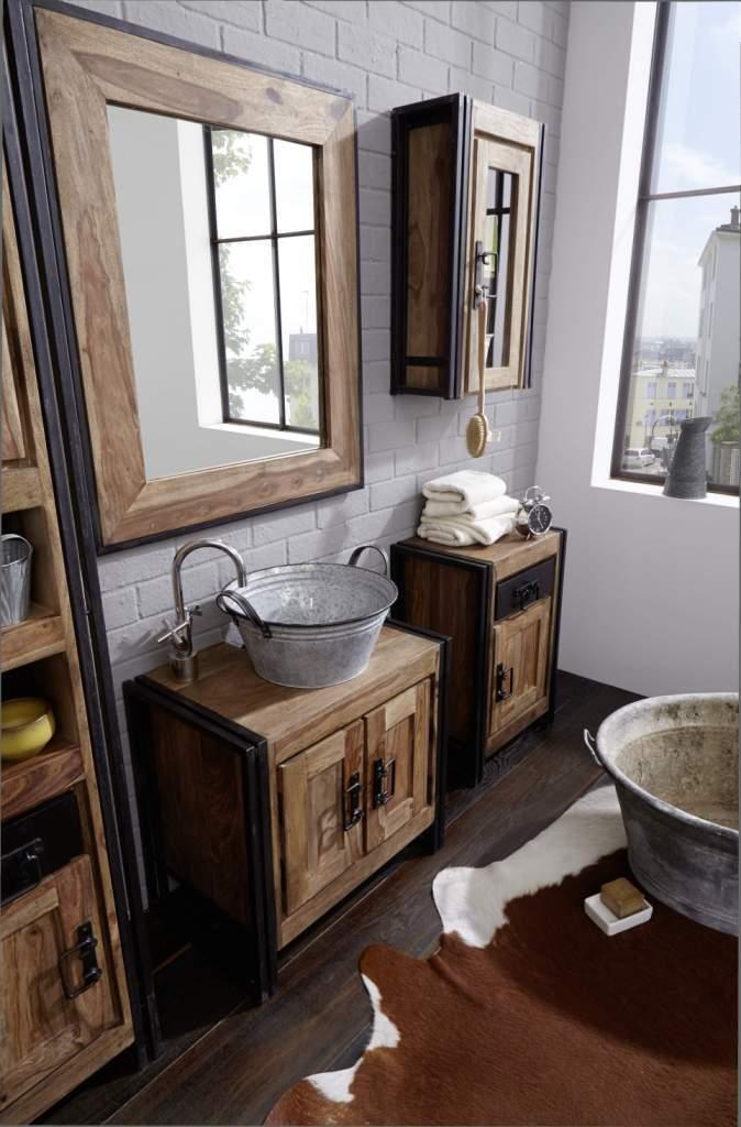 Specchio industrial new style arredamento industriale bagno - Specchio stile industriale ...
