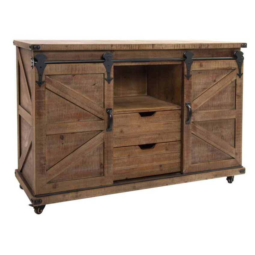 Buffet industrial metallo e legno mobili stile industriale - Mobile tv stile industriale ...