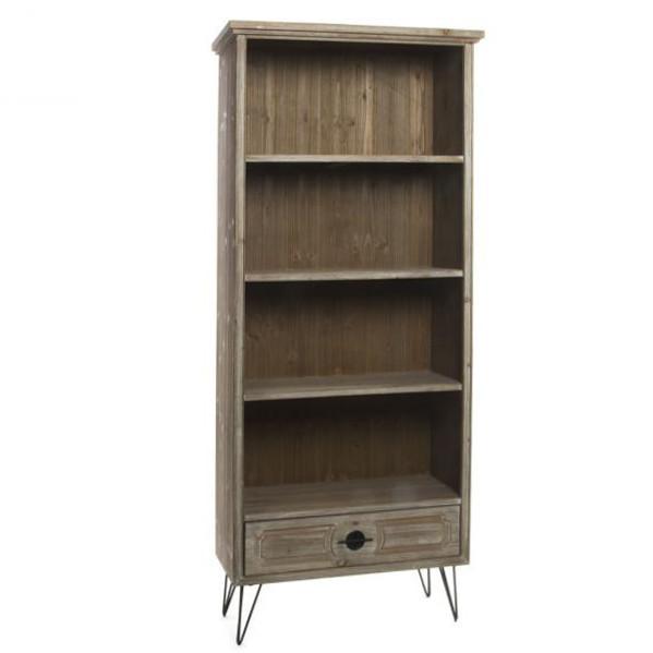 Libreria vintage legno naturale mobili vintage online for Outlet mobili online vendita