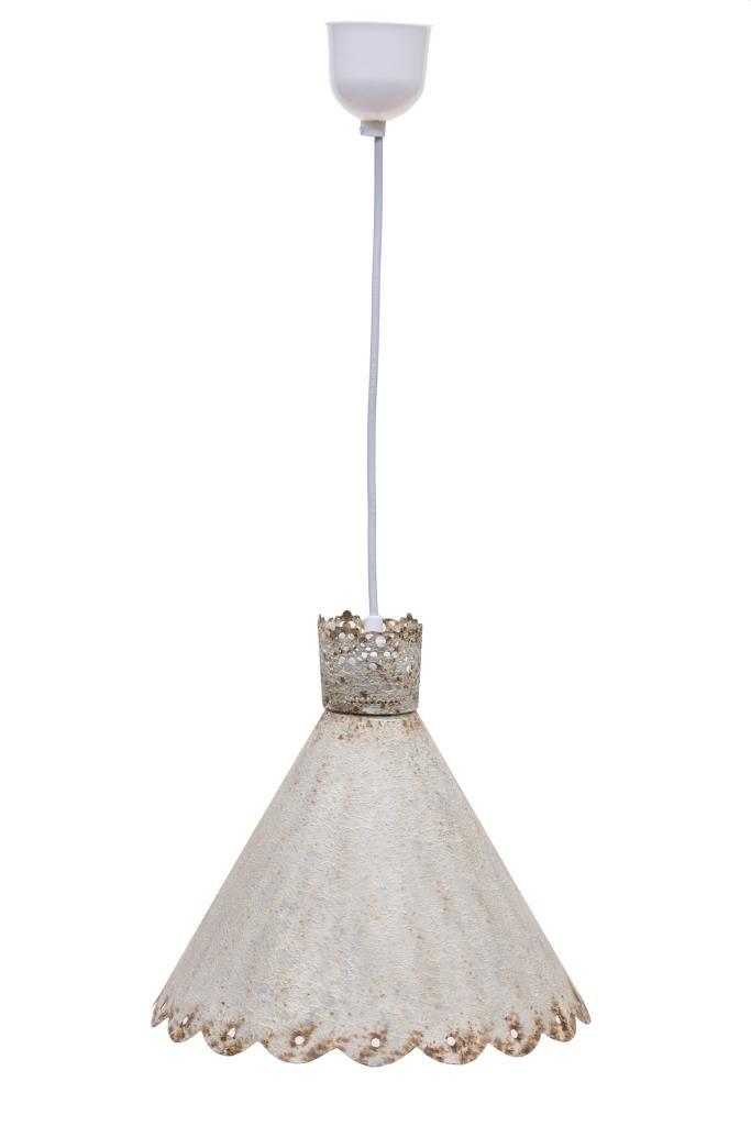 Lampadario vintage bianco shabby lampadari offerta online for Lampadario vintage