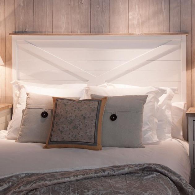Testate letto legno bianco testata letto matrimoniale shabby chic clarissa letti testate del - Testate letto shabby ...
