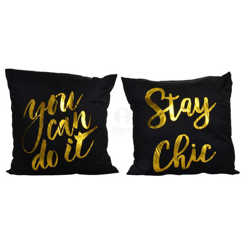 Cuscini industrial nero oro set 2 pz