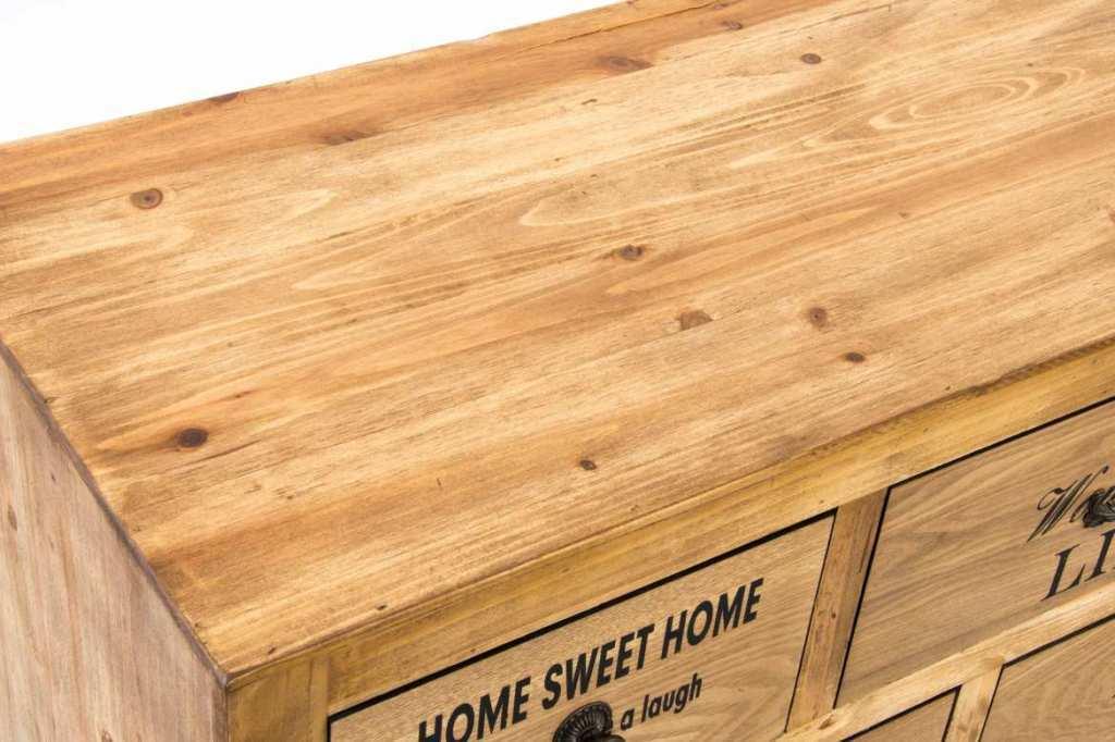 Cassettiera stile nordico legno naturale arredamento online for Arredamento legno naturale