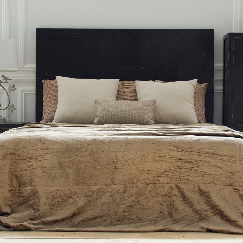 Testata letto orientale legno massello mobili etnici testate - Testata letto in legno ...