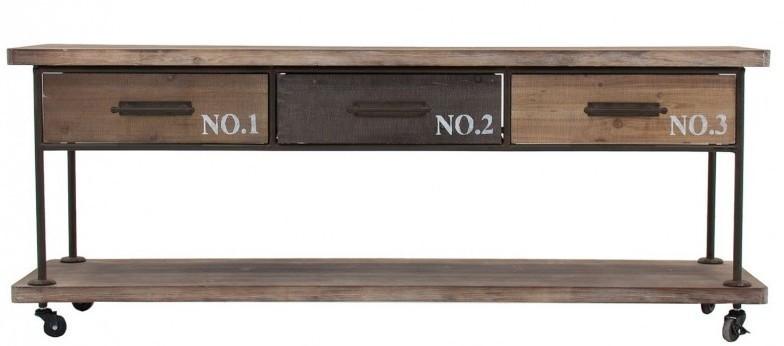 Porta tv industrial legno abete e ferro stile industriale - Mobile tv stile industriale ...