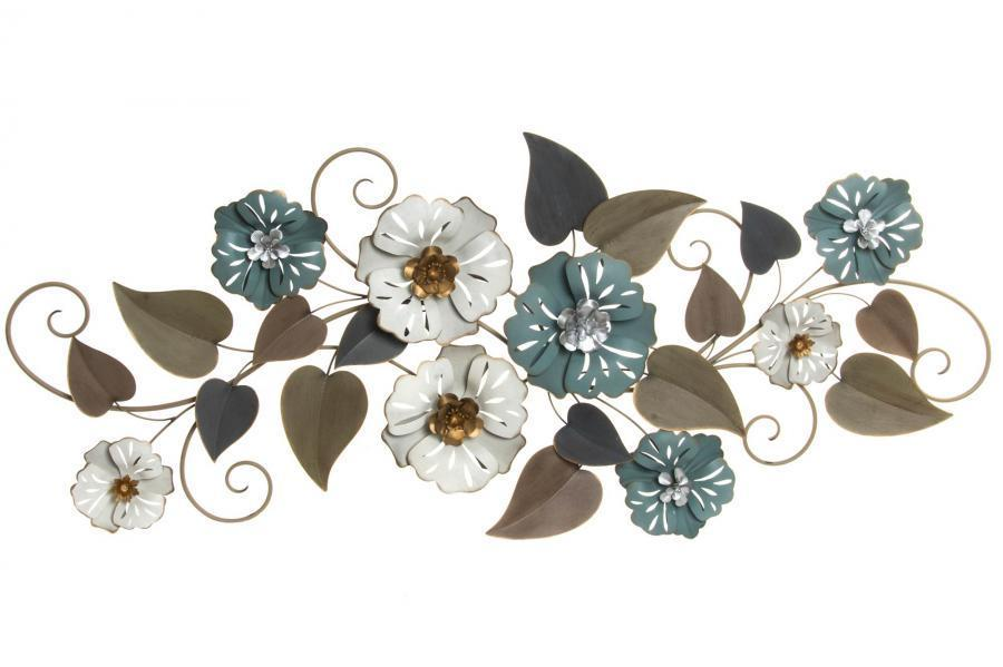 Decorazioni parete vintage fiori metallo quadri scontati 70 - Decorazioni da parete in metallo ...