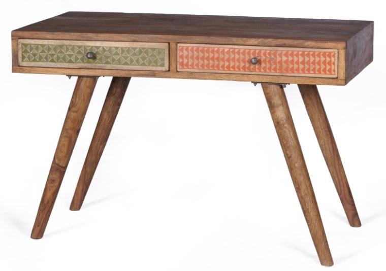 Scrivania Vintage Legno : Scrivania vintage legno sheesham mobili industrial