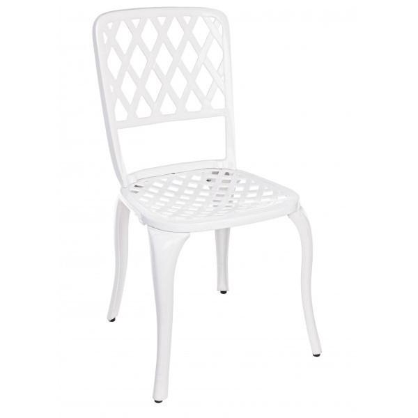 Set tavolo 4 sedie bianche giardino mobili provenzali - Tavolo e sedie bianche ...
