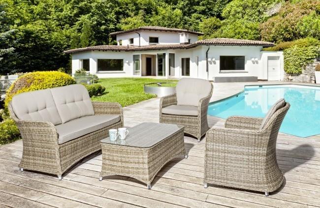Salotto giardino provenzale set 4 pz mobili esterno provenzali - Giardino provenzale ...