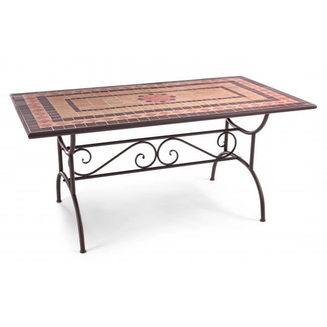 Tavolo ferro mosaico da giardino tavoli giardino online - Tavolo ferro giardino ...