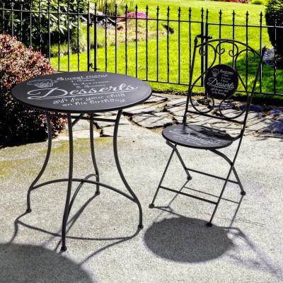 Tavoli Da Giardino Vintage.Set Tavolo 2 Sedie Giardino Vintage Mobili Industrial Giardino
