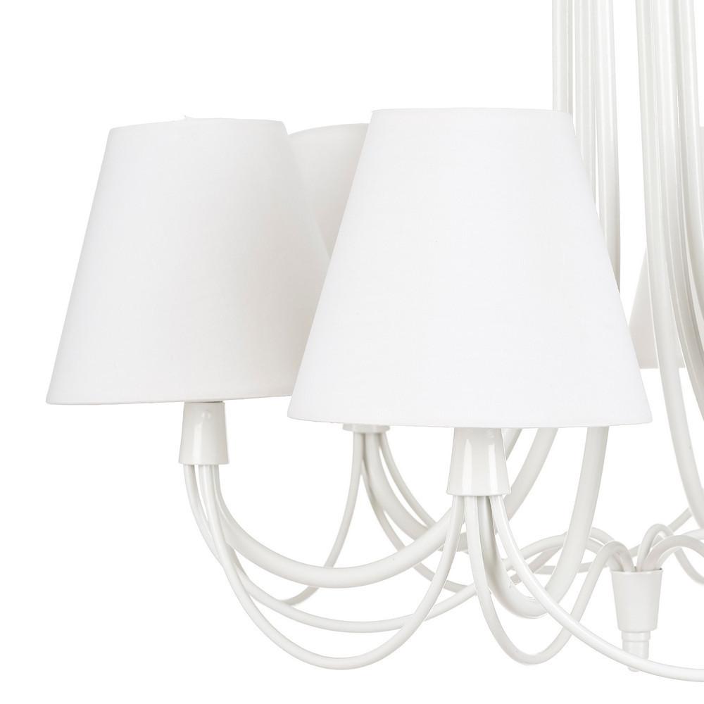 Lampadario provenzale bianco 6 luci arredamento romantico for Bianco e dintorni arredamento provenzale