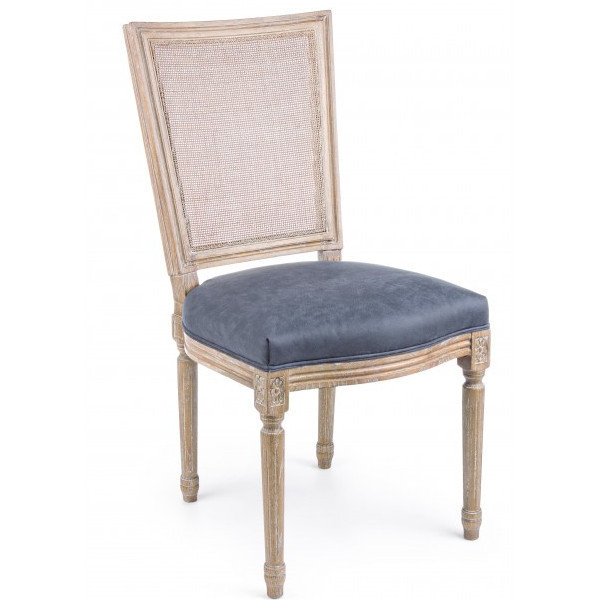 Sedia stile inglese blu antico Sedie provenzali online