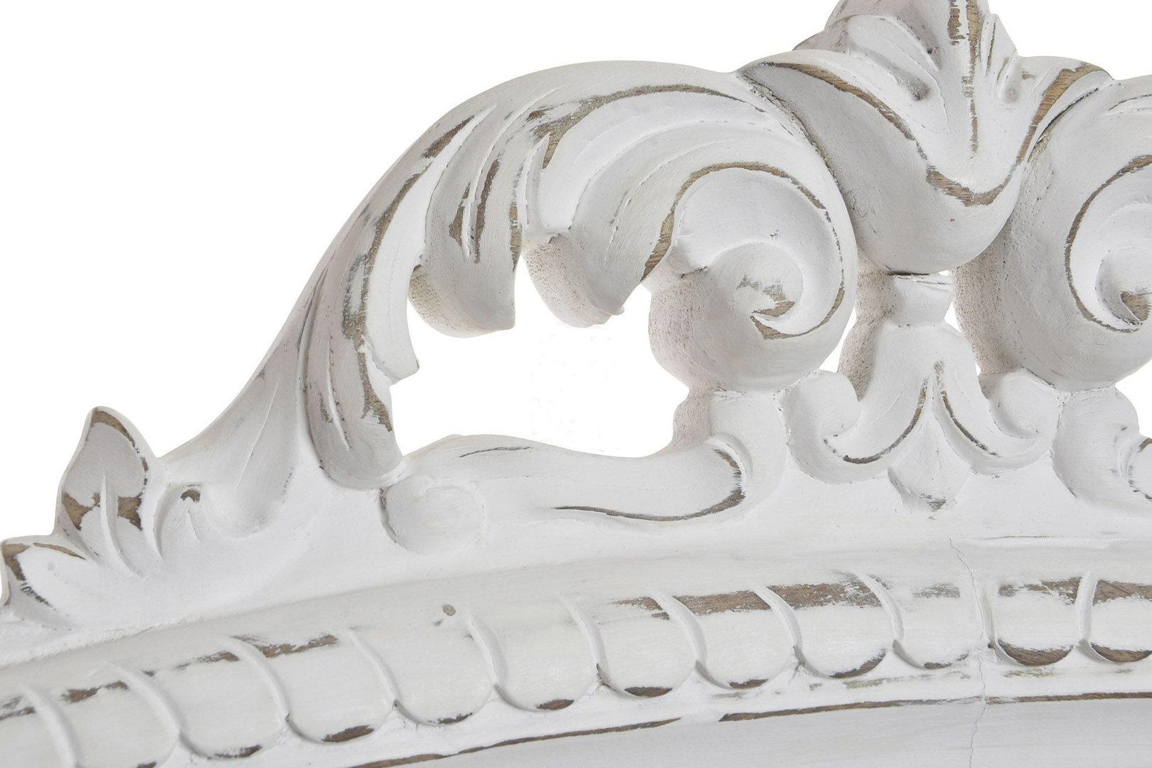Testate letto shabby chic - Testata legno bianco decapato