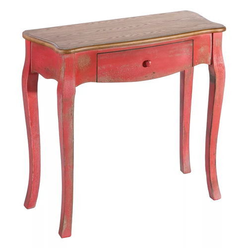 Consolle vintage chic rossa