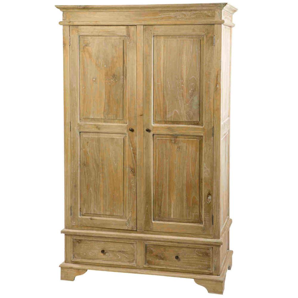 Armadio provenzale legno naturale decapato mobili shabby chic - Mobili legno naturale ...