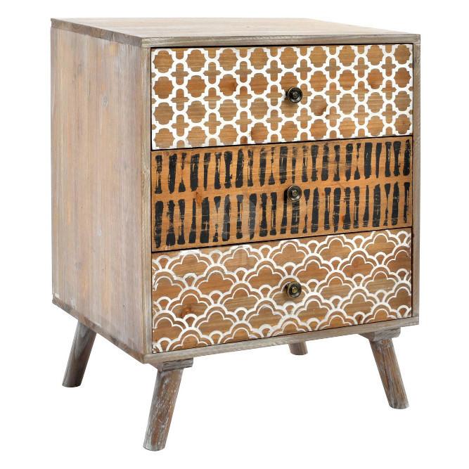 Comodino etnico chic in legno - Offerte comodini legno online