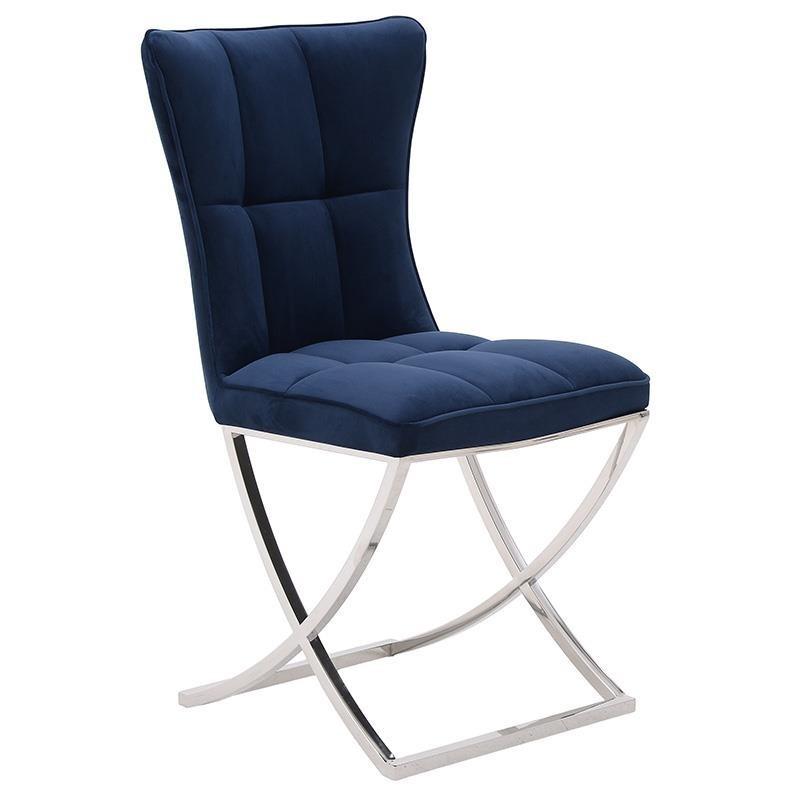 Sedia provenzale velluto blu
