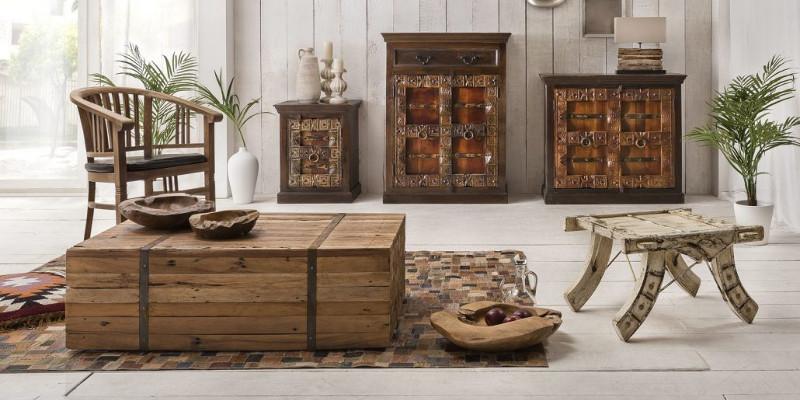 Pouff cassapanche e bauli in legno prezzi scontati etnico for Bauli arredamento