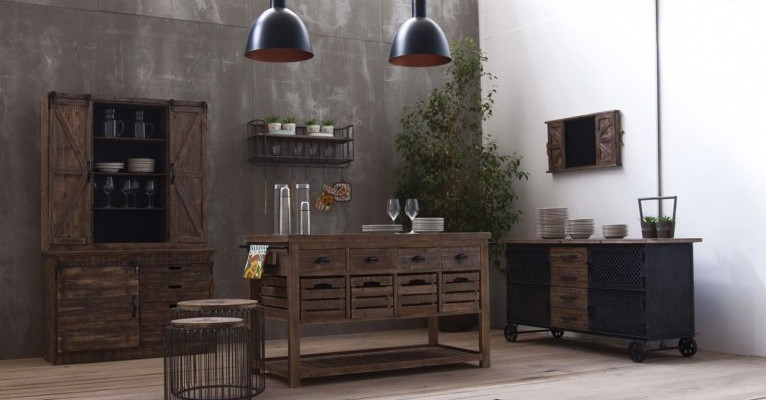 Buffet e credenze industrial e vintage vendita online for Mobili in offerta on line