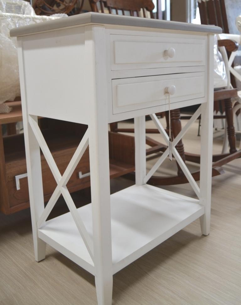 Mobile comodino provenzale legno bianco shabby chic mobili - Mobile stiro mondo convenienza ...