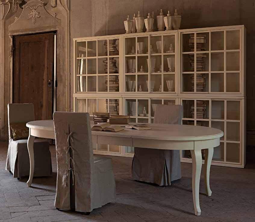 Tavolo provenzale ovale allungabile legno bianco 110x160 240h79 eth01tv017 ebay - Tavolo decapato ...