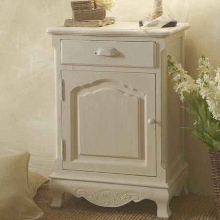 Comodino bianco provenzale mobili shabby chic provenzali for Stile provenzale ikea