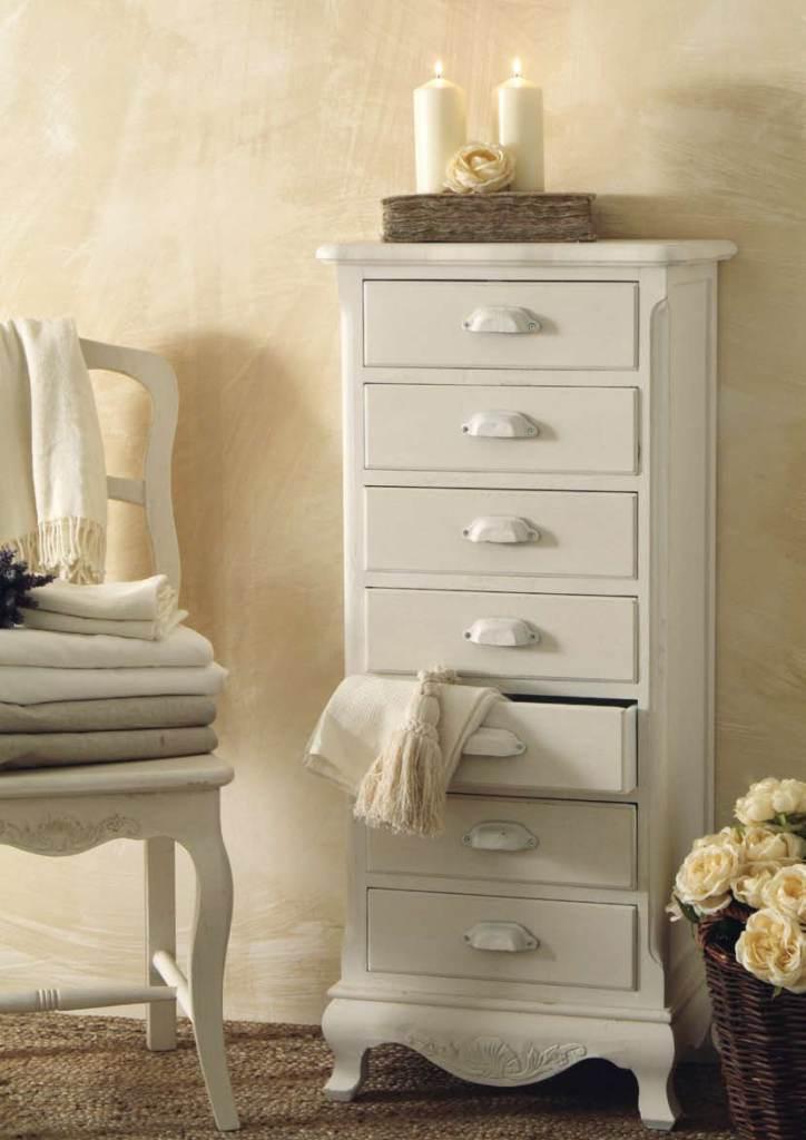 Settimino provenzale bianco mobili shabby chic online - Mobili bagno stile country ...