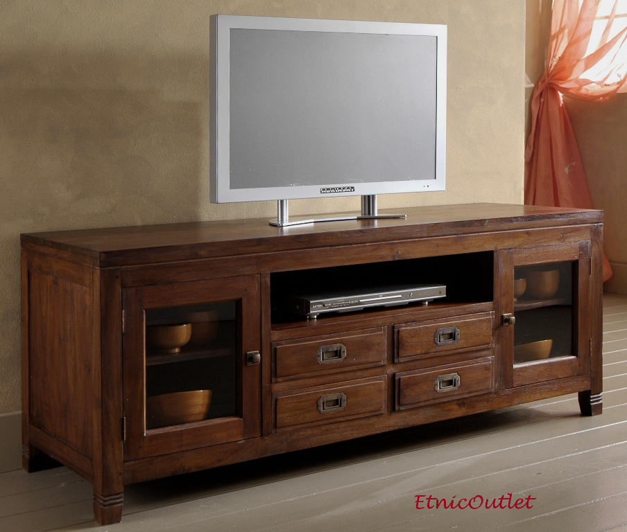 Porta tv etnico teak etnico outlet mobili etnici teak for Outlet di mobili