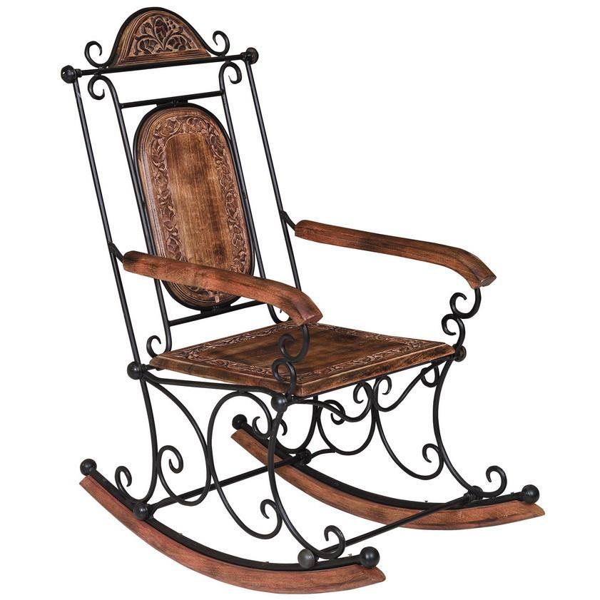 Sedia a dondolo legno e ferro sedie orientali for Sedie a dondolo