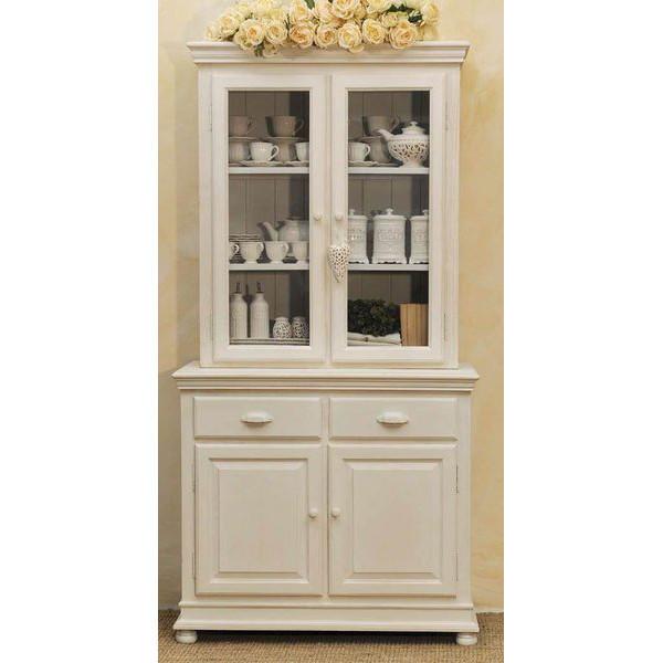 Credenza provenzale legno bianca Credenze e vetrine shabby chic