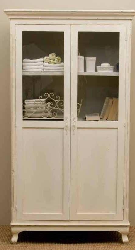 Vetrina provenzale bianca vetrine provenzali online for Arredamento francese provenzale
