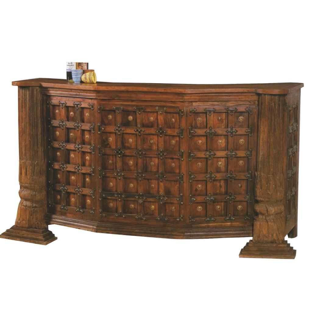 Mobile bar bancone etnico monumentale realizzato a mano in legno ...