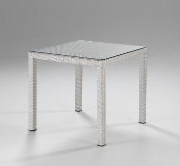 Tavolo quadrato Bianco - ETNICO OUTLET Mobili Etnici Industrial ...