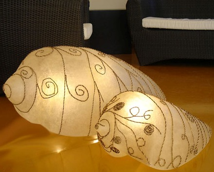 Lampade In Vetroresina : Lampada maxi shell etnico outlet mobili etnici industrial shabby