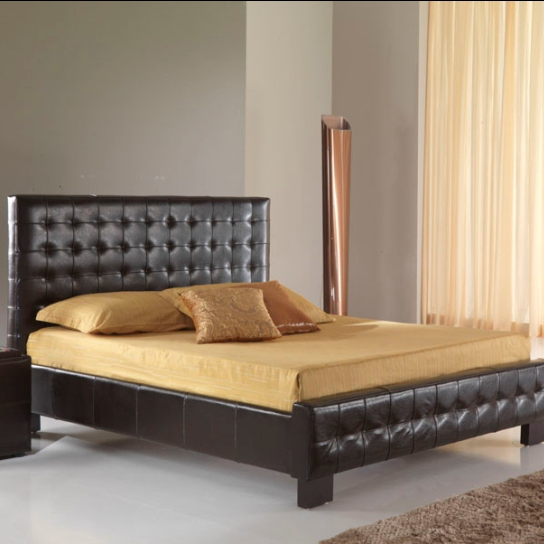 Letto in pelle brown - ETNICO OUTLET Mobili Etnici Industrial Shabby ...