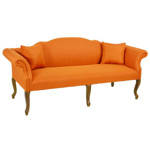Divano francese arancione arredo stile francese online - Divano in francese ...