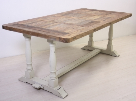 Consolle legno bianco shabby chic etnico outlet mobili