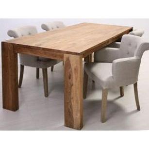 Tavolo etnico in legno naturale outlet mobili etnici - Tavolo legno naturale ...