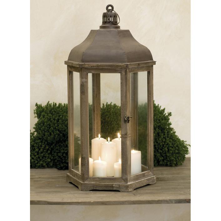 Lanterna brunita provenzale lanterne giardino provenzale for Lanterne in legno