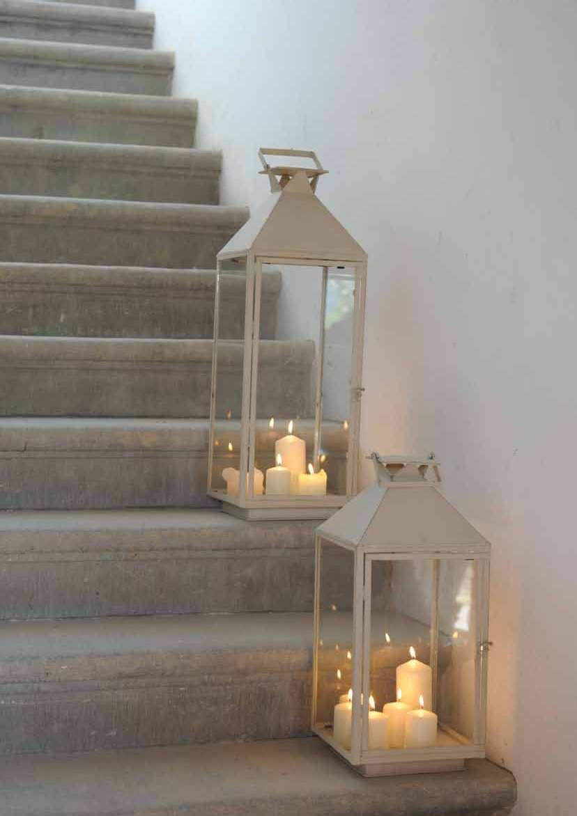 lanterna ferro bianca maxi lanterne provenzali giardino