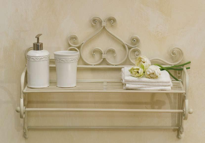 Porta telo ferro battuto bianco etnico outlet mobili for Mobili da giardino in ferro antichi