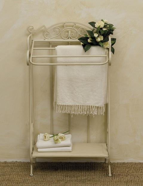 Porta asciugamano provenzale bianco etnico outlet mobili etnici industrial shabby chic - Mobili bagno in ferro battuto bianco ...