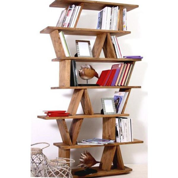 Libreria legno massello naturale Librerie legno massello