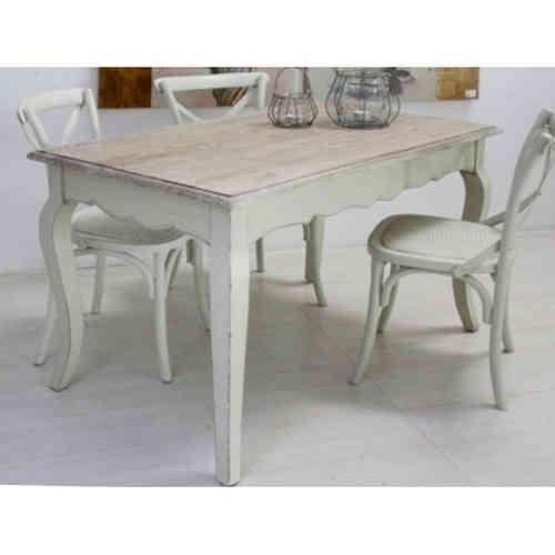 Tavolo Legno Bianco Anticato.Tavoli Provenzali E Shabby Chic Nuovi Arrivi E Nuove Proposte