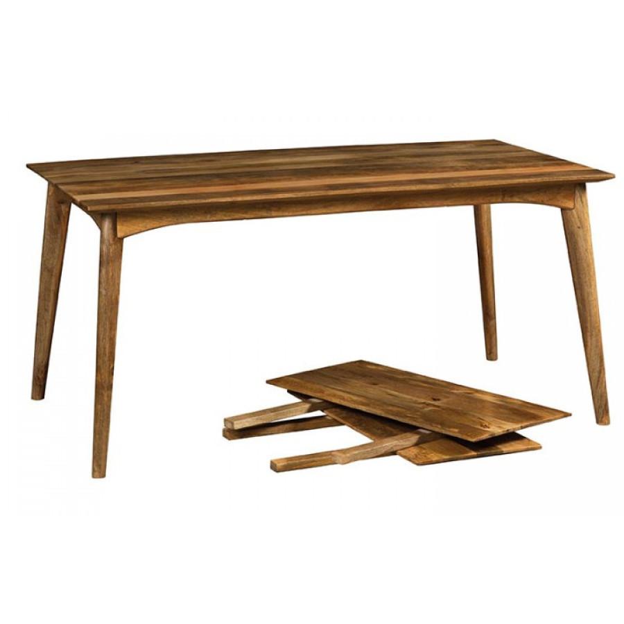 Tavolo etnico retr legno naturale mobili industrial e vintage - Tavolo legno naturale ...