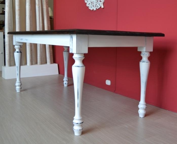 Tavolo Da Pranzo Shabby : Tavolo legno decapato shabby tavoli legno bianchi