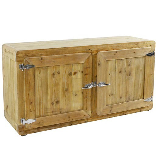 Buffet etnico legno naturale mobili industrial online - Mobili legno naturale ...