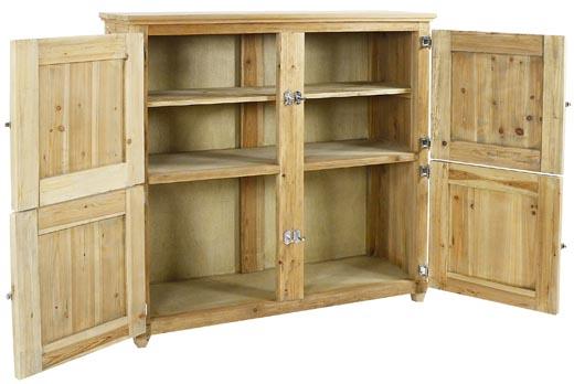 Buffet legno massello naturale credenze industrial online for Dispensa legno