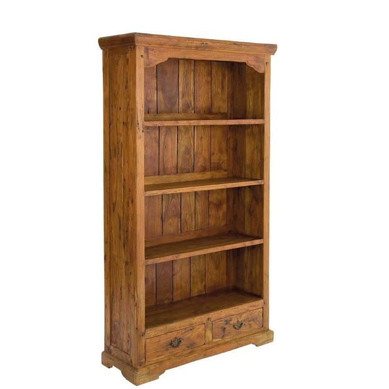 Libreria country legno massello